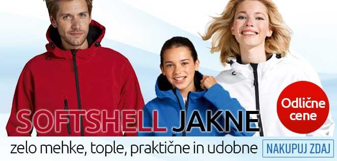 Zelo mehke, tople, praktične in udobne softshell jakne