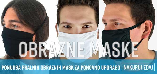 Velika ponudba obraznih mask za splošno in medicinsko uporabo