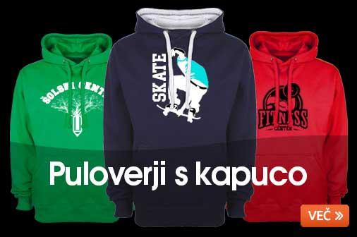 Priljubljeni puloverji s kapuco. V ponudbi je več kot 50 različnih modelov