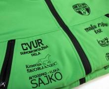 Softshell jakna z vezenjem ŠD Pristava in vezenimi sponzorji