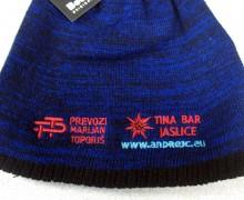 Vezenje logotipa Toporiš na pletene kape