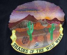 Vezenje logotipa WILD WEST na flis jope
