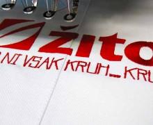 Vezenje logotipa Žito na predpasnike