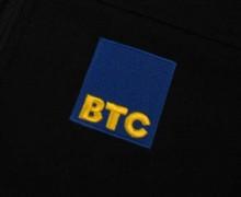 Vezenje logotipa BTC