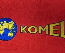 Vezenje logotipa Komel na brisače