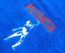 Vezenje logotipa Potentia na brisače