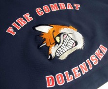 Vezenje logotipa FIRE COMBAT DOLENJSKA na softshell