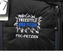 Vezenje logotipa Area Petzen na zimske jakne