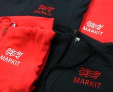 Vezenje logotipa MARKIT na jope s kapuco