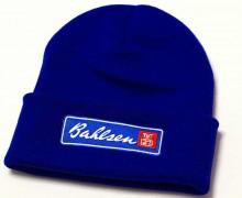 Vezenje logotipa Bahlsen na pletene kape