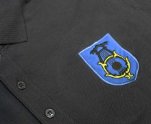 Vezenje logotipa Godna Litija na polo majice