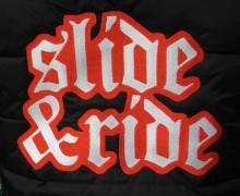 Vezenje logotipa Slide&Ride na zimske jakne