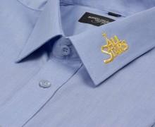 Vezenje logotipa na ovratnik srajce