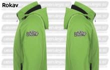 Vezenje na rokav stran softshell jakne