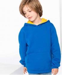 Otroški pulover s kontrastno kapuco K453