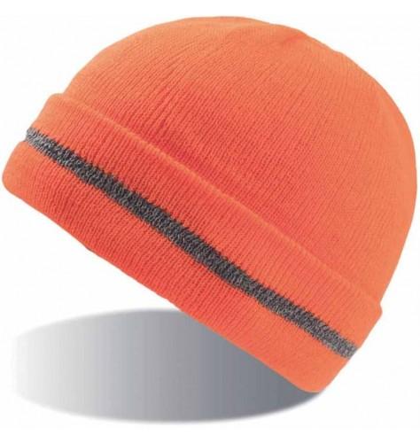 Pletena kapa Workout z odsevnim trakom