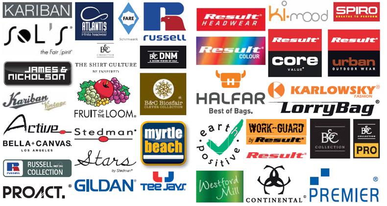 Zastopstvo priznanih blagovnih znamk promocijskih oblačil